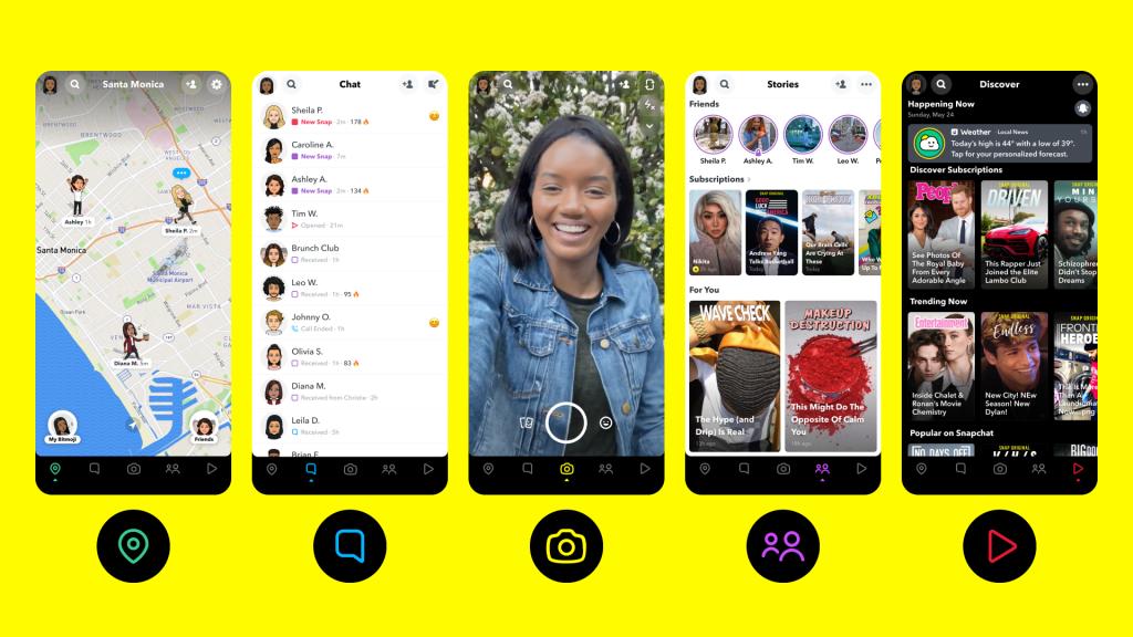 Snapchat funciones